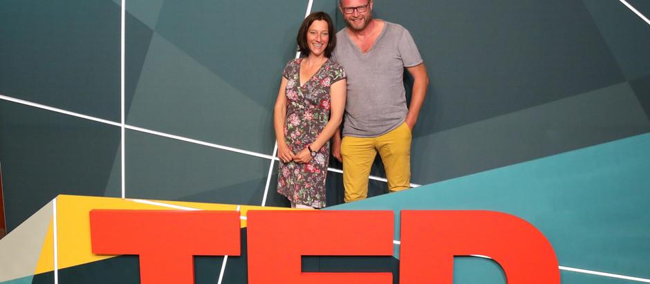 Beim TED-Summit 2019 in Edinburgh