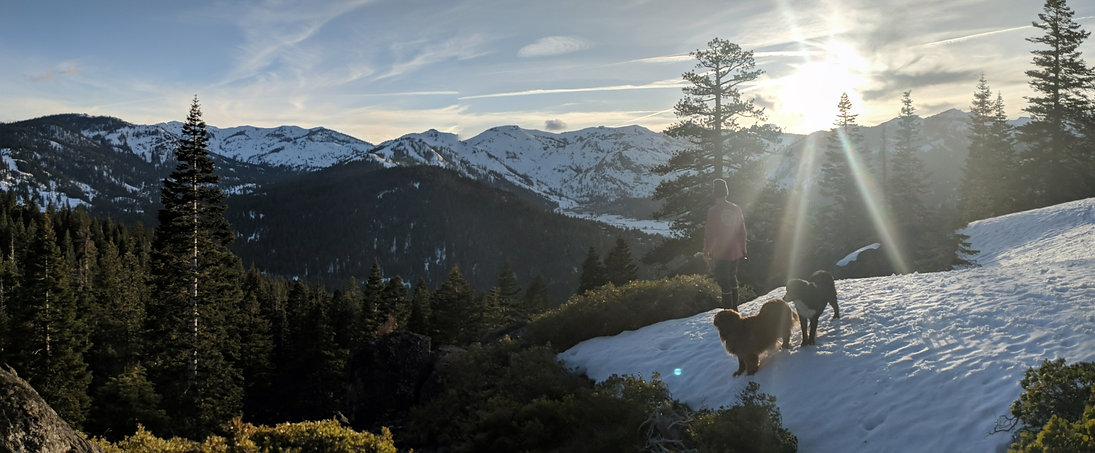Guided snowshoe trip Lake Tahoe