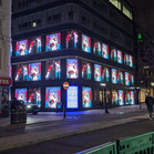 W1 Curations Blue light project. Oxford St, London.