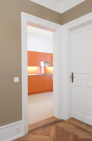Küche und Korridor