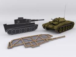 Crusader tank alongside the targets