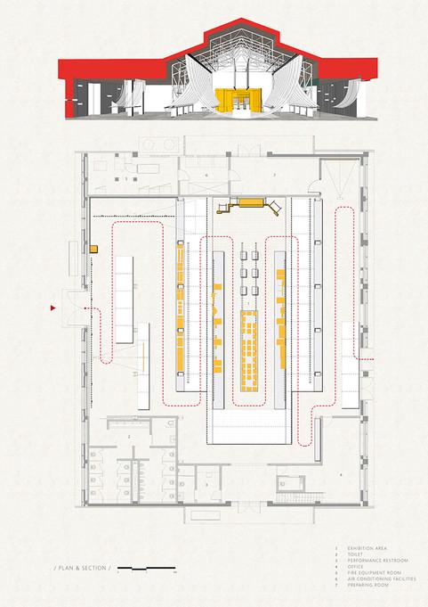 Paper Roof Exhibition Space  B+P Archite