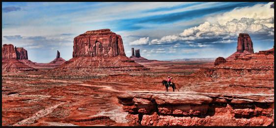 Monument Valley horse rider