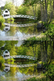 Acadia White Foot Bridge Before and After