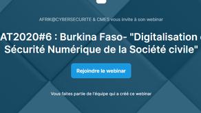 CYBERAFRIKTOUR 2020 – ETAPE  #6 : BURKINA FASO