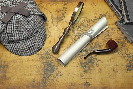 Overhead View Of Sherlock Holmes Deersta