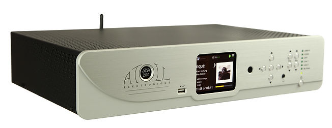 Atoll Electronique SDA 200 integrated amplifier, streaming music player, blue tooth, V-tuner, analog pre-amp, 120 watts X 2, discrete components, bi-amp, all in one high-end music player for top level music streaming maintaining the integrity of the music
