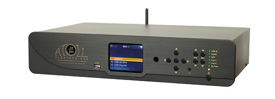 "Atoll Electronique ST 200 Streaming, music player, DAC, V-tuner internet radio player, Bluetooth, SPDIF inputs, USB ""B"" and USB ""A"" inputs, digital output and analog output.  Android and Apple app control.  Burr-Brown DAC, dual mono Class A output"