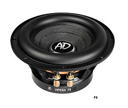 """Audio Develpment Vipera subwoofers, subwoofers for the car very low distrotions, worlds best 8"""" mobile subwoofer, World's best 12"""" subwoofers, SPL quality subwoofers, SQL subwoofers, long throw woofers."""