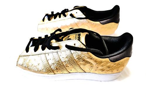 Limited Edition Metallic Gold Ostrich Adidas