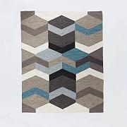Geo wool rug