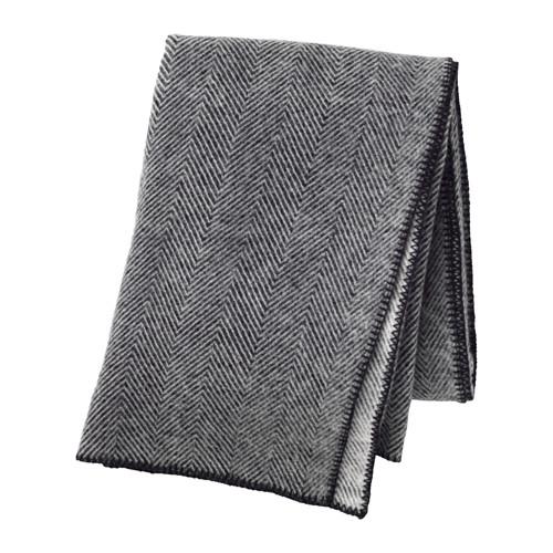 Jeté en laine grise