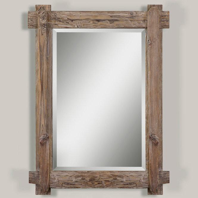 Miroir de bois