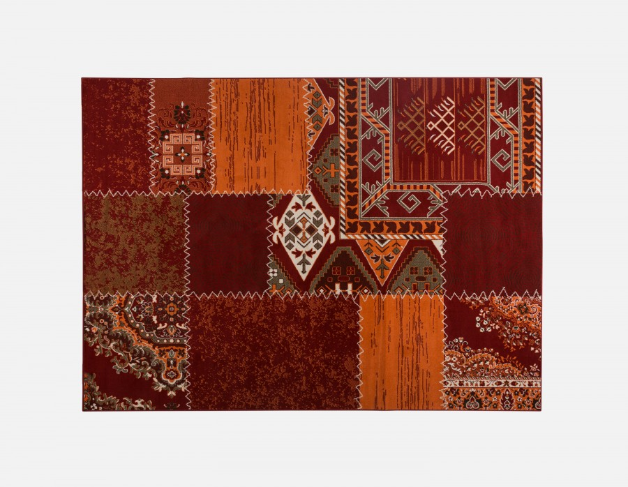 Tapis à motif patchwork