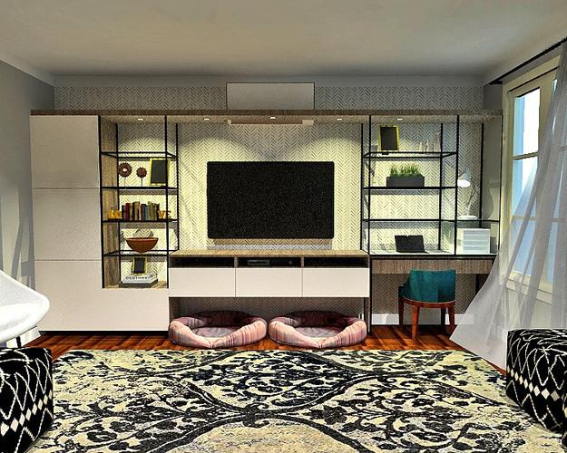 Rendu réaliste - mobilier intégré