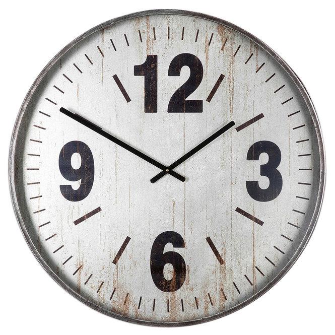 Horloge métal surdimensionnée