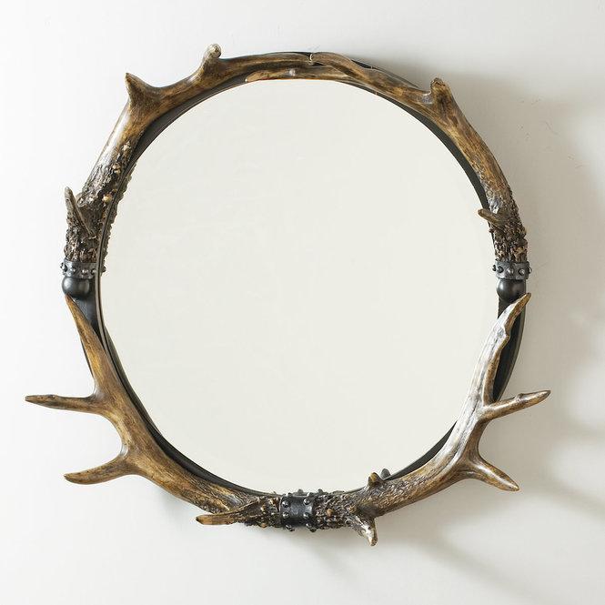 Miroir avec décorations rustiques