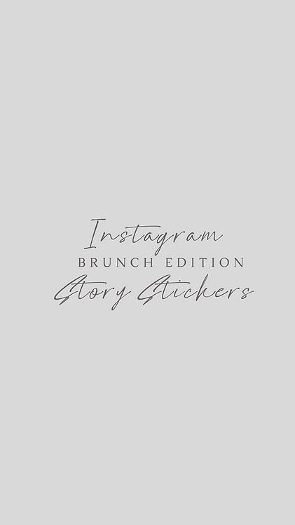 Brunch Instagram Story Stickers