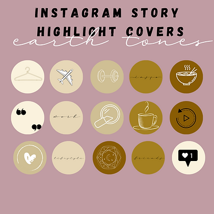 Earth Tones Instagram Highlight Covers
