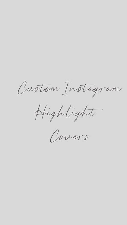 Custom Instagram Highlight Covers