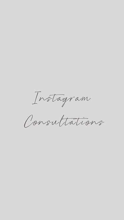 Instagram Consultations