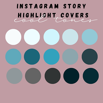 Cool Tones Instagram Highlight Covers