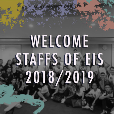 FIRST PLENARY WITH NEW EIS STAFFS OF 2018/2019