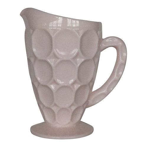 Pink Milk Glass Pitcher - M