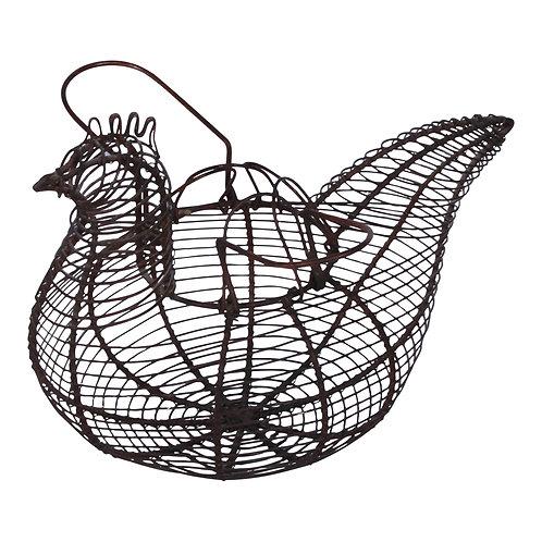 Hen-Shaped Egg Basket