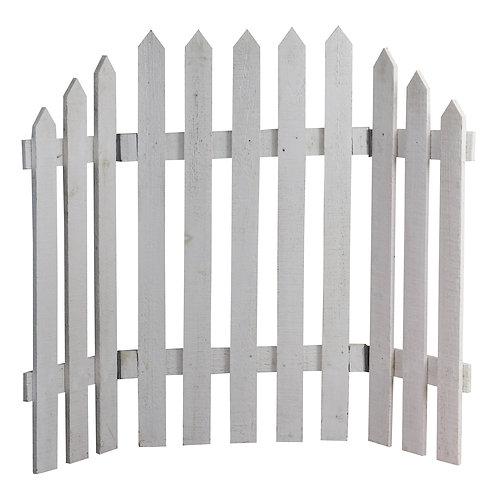 Folding White Fence