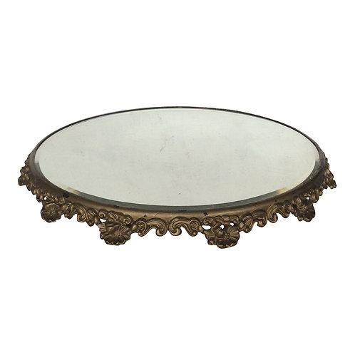 Gold Pedestal Mirror - L