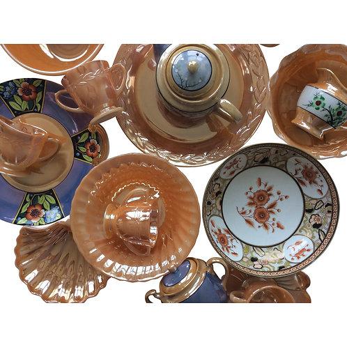Peach Lustreware Collection