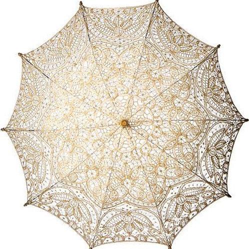 Cream Lace Parasol