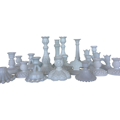 Milk Glass Candlestick Collection