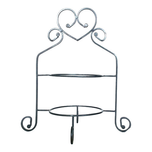 Silver Heart Tiered Stand