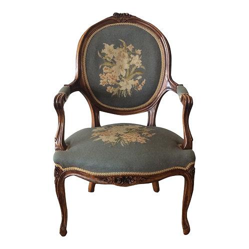 Margaret Blue Floral Armchair