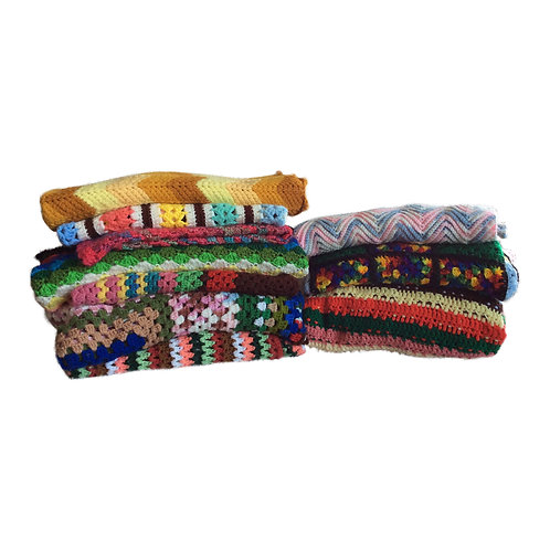Assorted Brightly Colored Afghans (Set of 3)