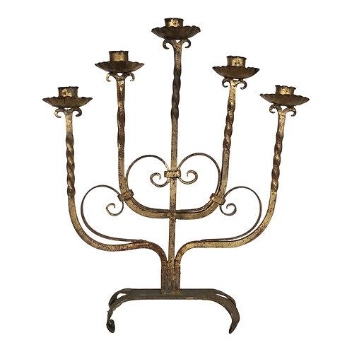 Twistie Brass Candelabra