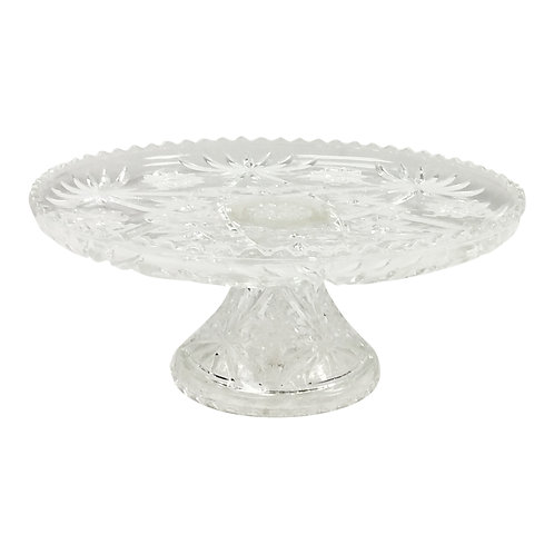 Snowflake Clear Dessert Stand