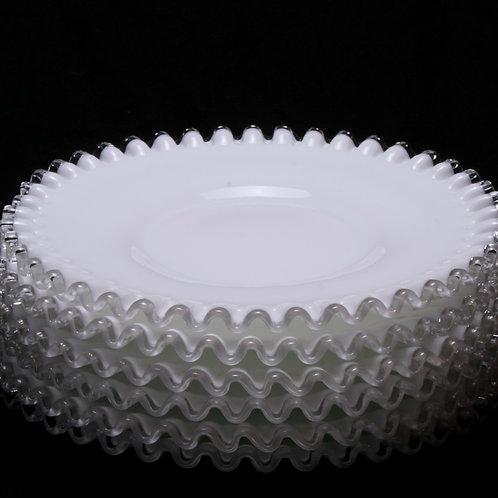 Fenton Ruffled Glass Plate