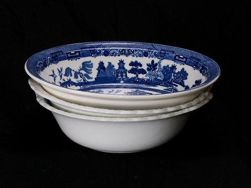 Blue/White China Bread/Serving Bowl
