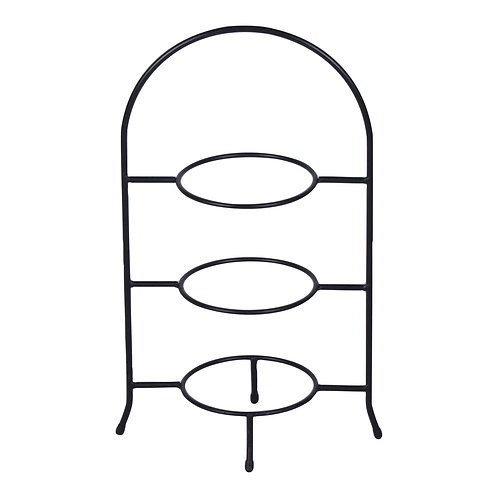 Rounded Black 3-Tiered Stand