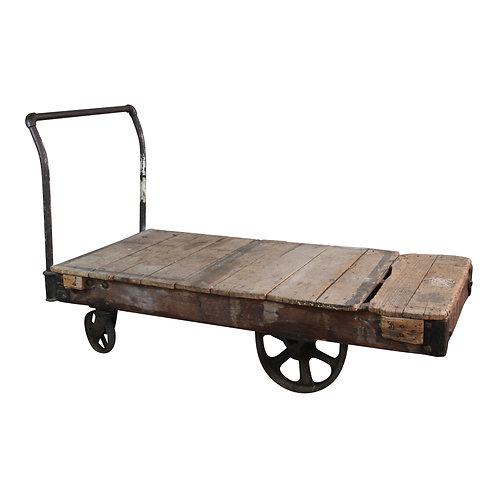 Wood Industrial Cart