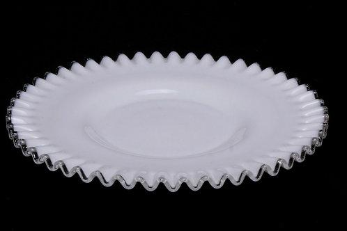 Fenton Ruffled Glass Platter