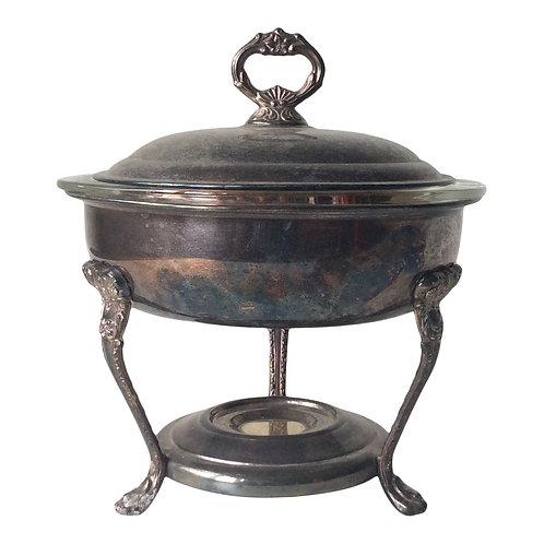 Silver Round Chaffing Dish