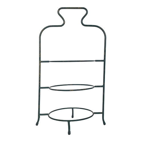 Green 3-Tiered Plate Server