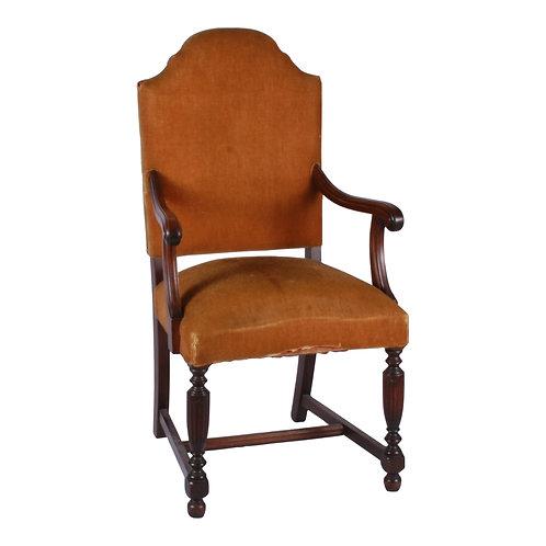 Curry Velvet Armchair