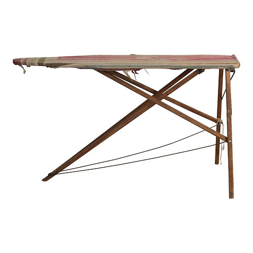 Striped Covered Ironing Board