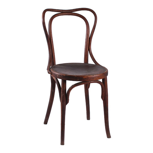 Round-Seat Wood Dining Chair (Assorted)