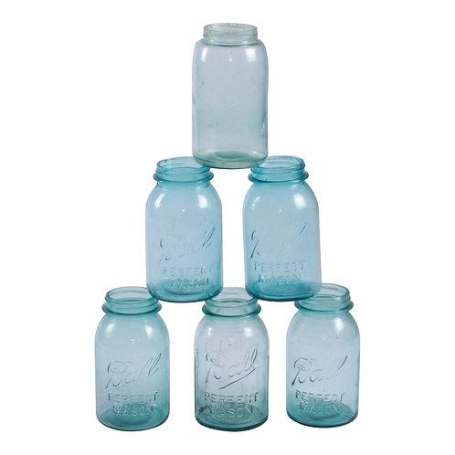 Blue Mason Jar Collection